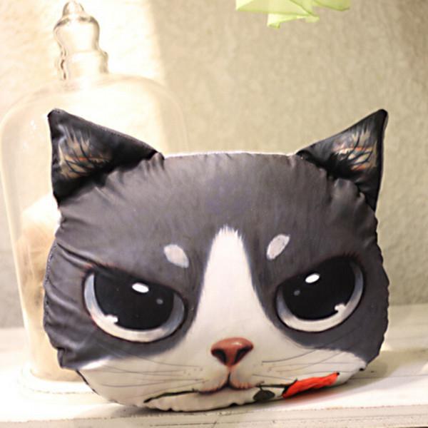 Cute 3D Cat Dog Face Throw Pillow Decor Cushion Toy Doll Soft Plush Stuffed eBay