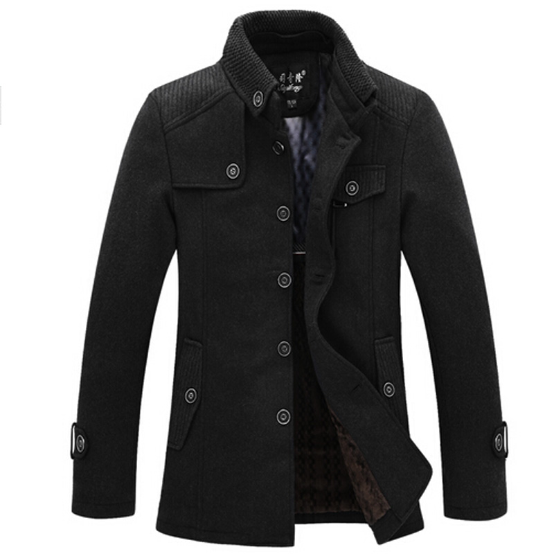 podom herren fleece jacke winterjacke kapuze parka kurzer mantel wolle coat ebay. Black Bedroom Furniture Sets. Home Design Ideas