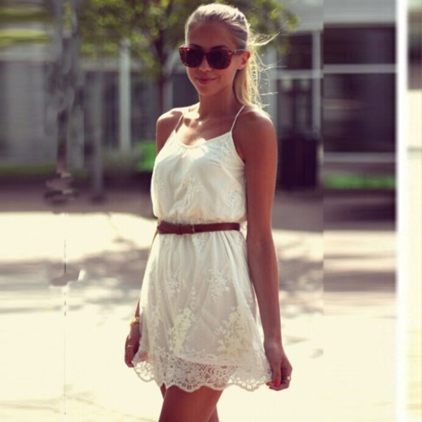 Fashion White Sexy Summer Women Ladies Lace Mini Party Evening Dress New Nice