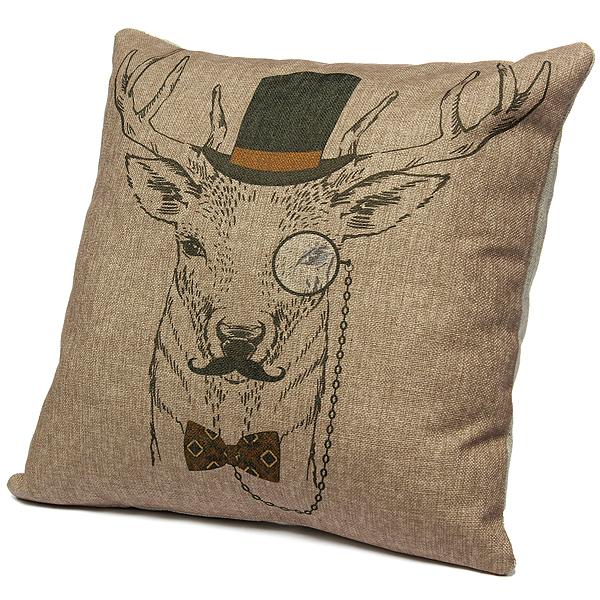 animaux s rie lin coton taie d 39 oreiller housse de coussin canap voiture d co uk ebay. Black Bedroom Furniture Sets. Home Design Ideas