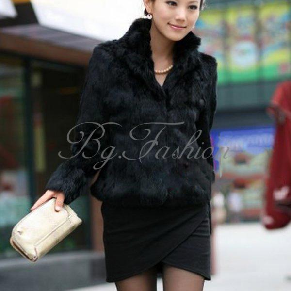 Fashion Women Warm Faux Fur fleece Coat Lady Winter Vintage Parka Jacket Colla