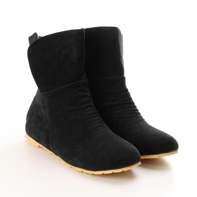 womens autumn winter warm ankle boots faux suede