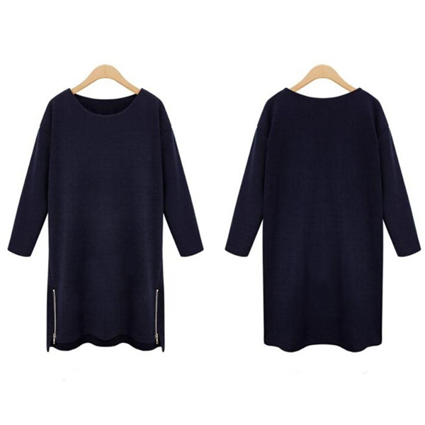 2015 New Womens Oversize Long Sleeve Loose Dress Tops Blouse Plus Size XL-5XL