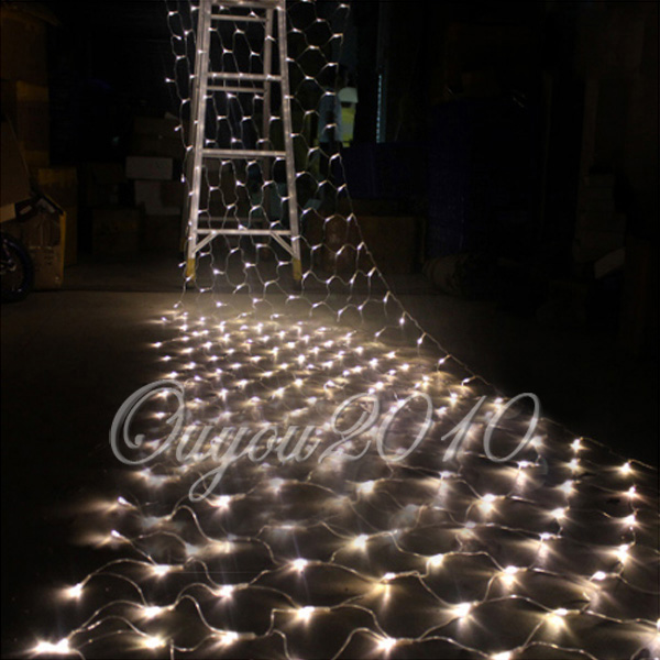 100 led lichterkette lichternetz leuchte innen au en party. Black Bedroom Furniture Sets. Home Design Ideas