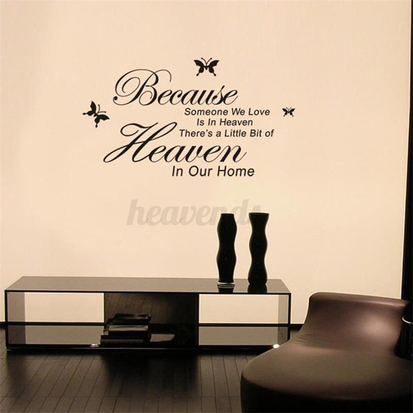 wandtattoo wandsticker wandaufkleber wohnzimmer spruch wandbild dekoration ebay. Black Bedroom Furniture Sets. Home Design Ideas