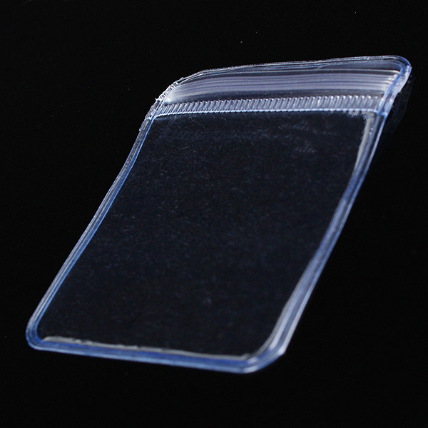 100pcs Clear Pvc Plastic Coin Wallets Storage Envelopes