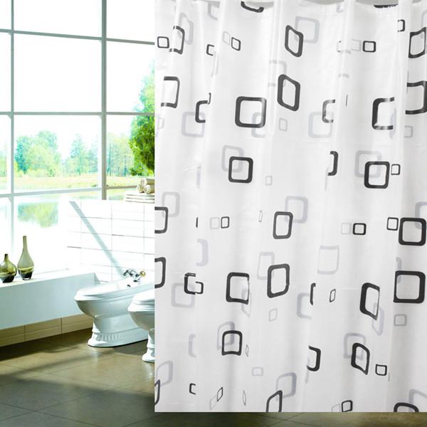 180x180cm rideau de douche carre etanche anti moisissure for Moisissure noire douche