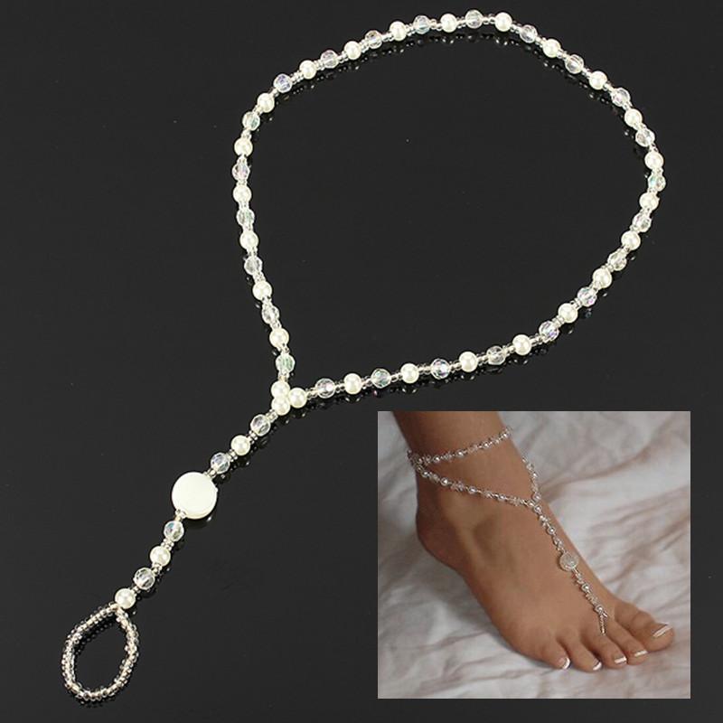 bracelet de cheville tour cha ne bijoux pieds femme sandale plage anklet sexy ebay. Black Bedroom Furniture Sets. Home Design Ideas