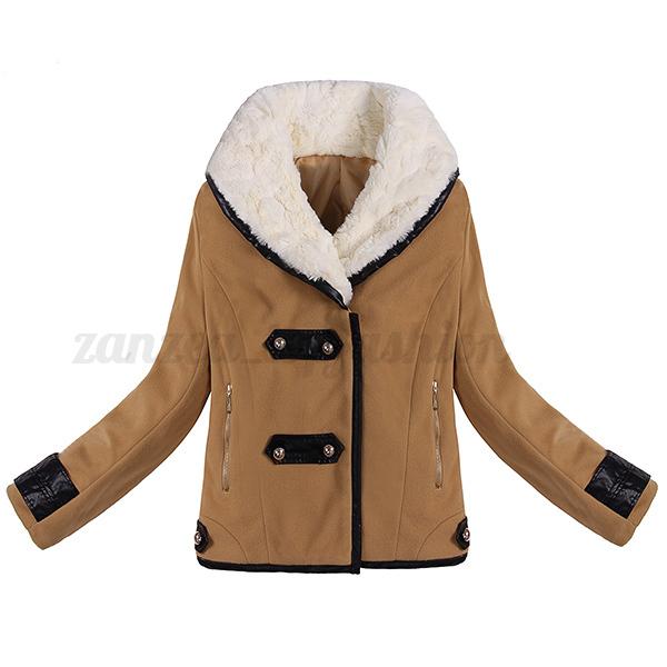 Fashion Winter Women Down Cotton Long Fur Collar Hooded Coat Jacket Parka