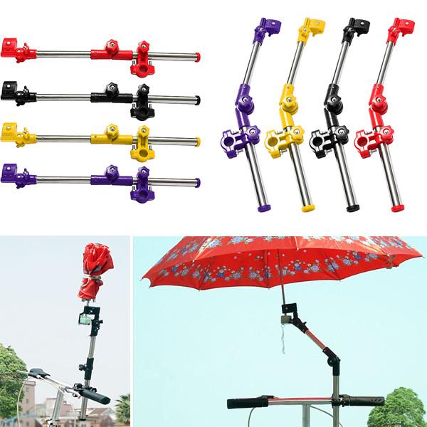 Support porte de parapluie pliable pour v lo vtt cyclisme - Porte parapluie pour poussette ...