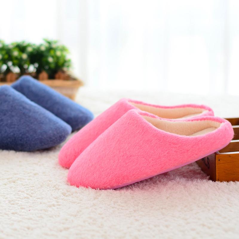 Unisex women men winter non slip slipper indoor household for How to keep shoes from slipping on floor