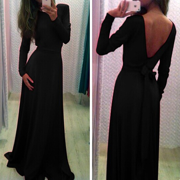 Women Elegent Bandage Prom Ball Cocktail Party Formal Evening Gown Long Dress