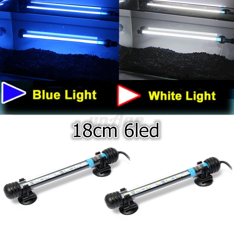 Blue white rgb 5050 led aquarium fish tank light bar lamp for Fish tank led light bar