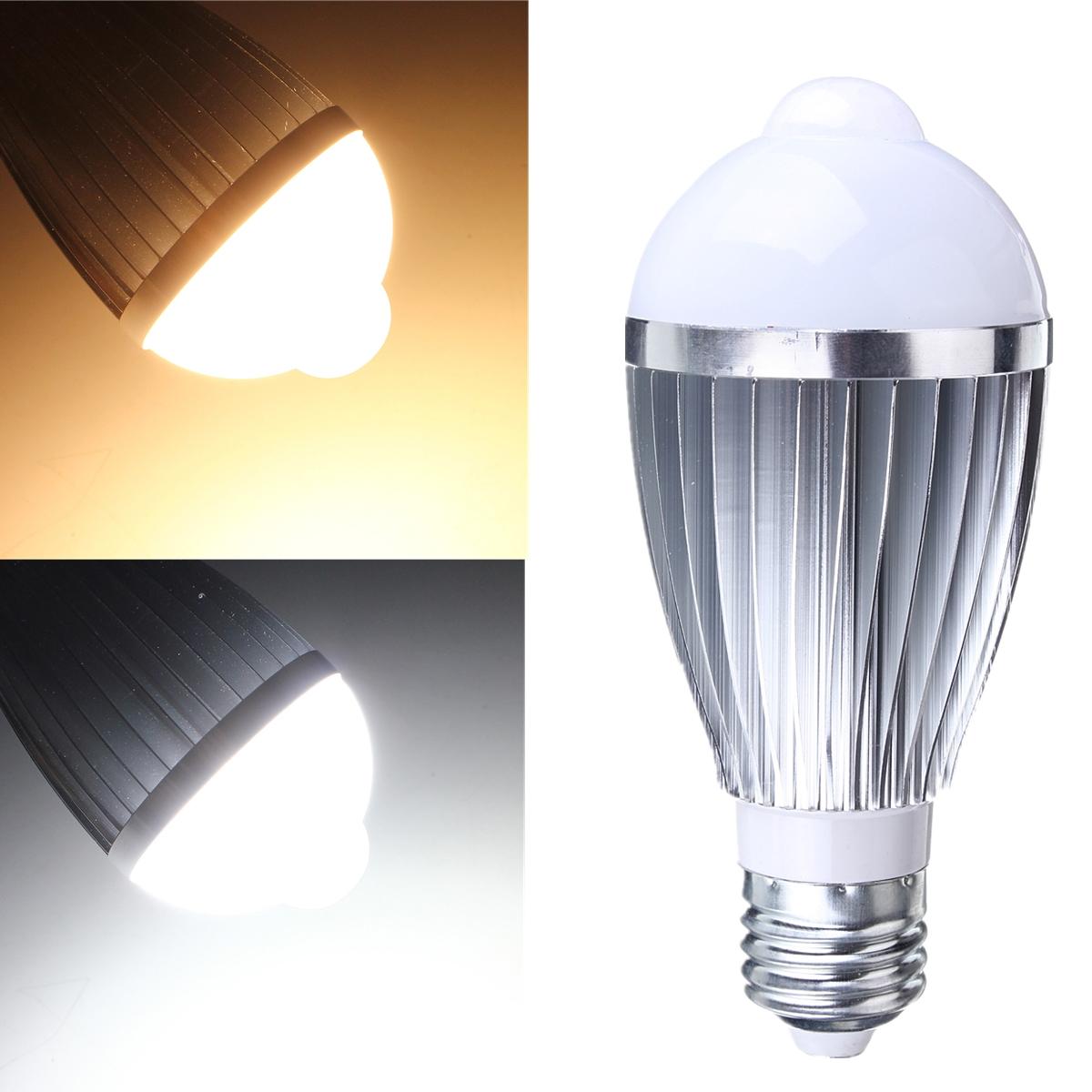 E27 5W/7W Auto PIR Infrared Motion Sensor Detection White LED Bulb Light Lamp OE