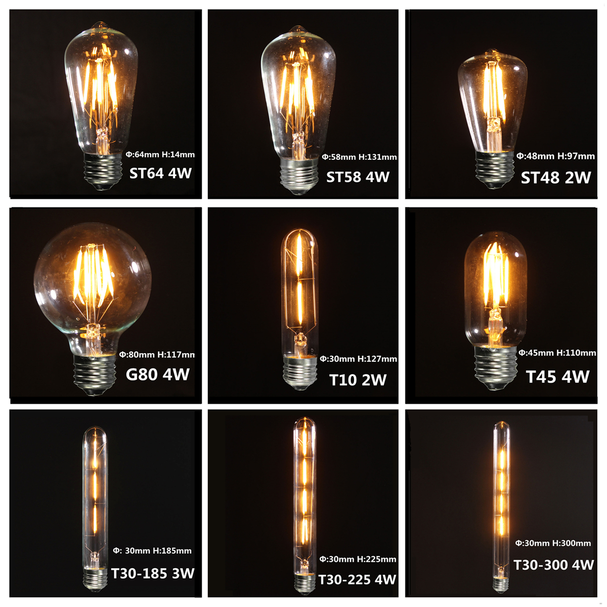 Ampoule Led Filament Perfect Splink Led Light Bulb Vintage E Edison
