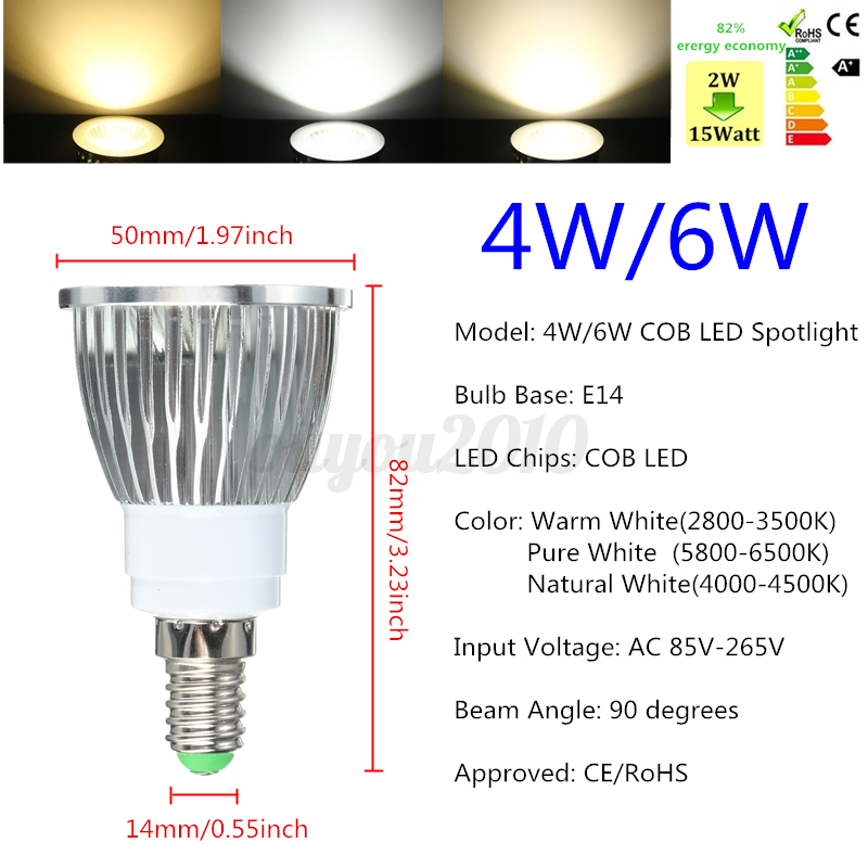 3 couleur en 1 ampoule intelligent e14 e27 gu10 b22 cob led 4 6 8w dimmable spot ebay. Black Bedroom Furniture Sets. Home Design Ideas