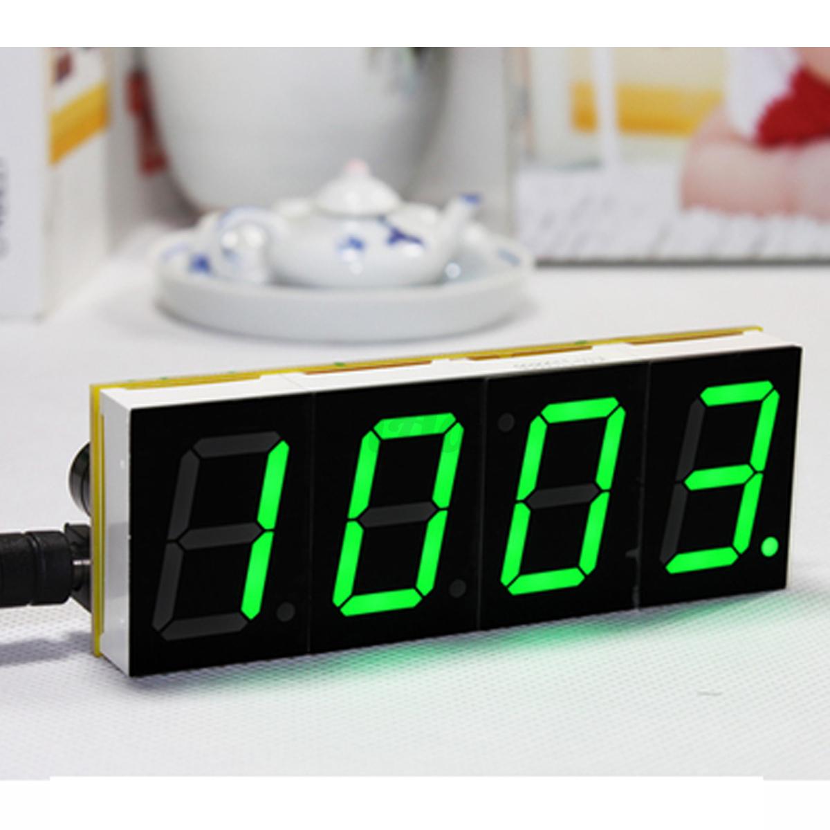digital led electronic microcontroller clock kit large screen display time new ebay. Black Bedroom Furniture Sets. Home Design Ideas