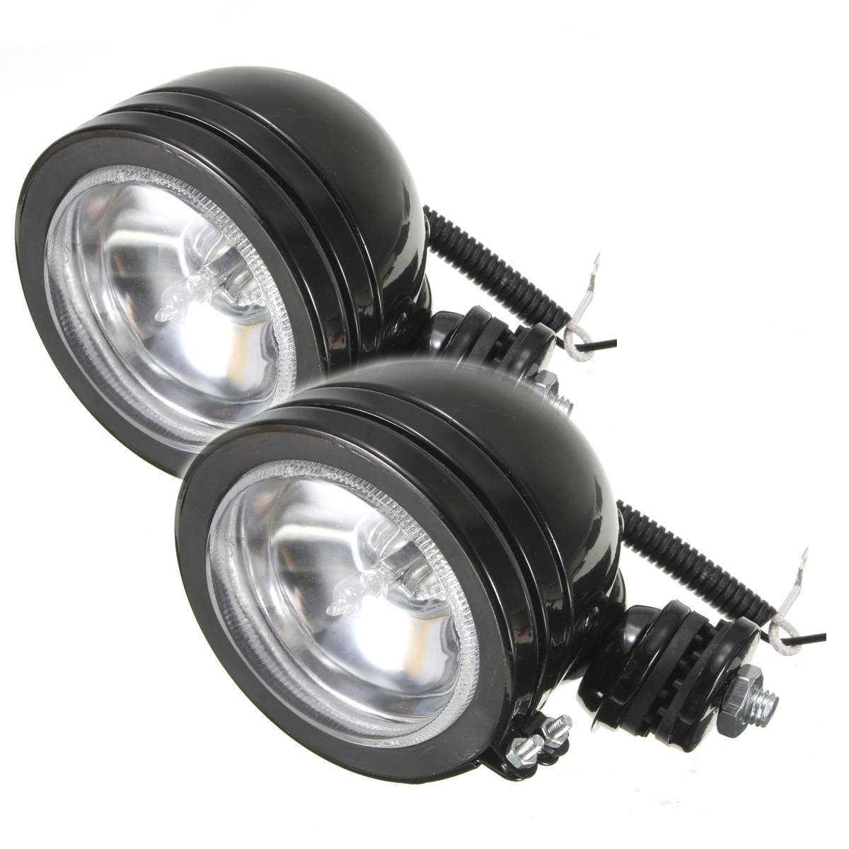 paire universel 4 led h3 12v 55w projecteur phare longue. Black Bedroom Furniture Sets. Home Design Ideas