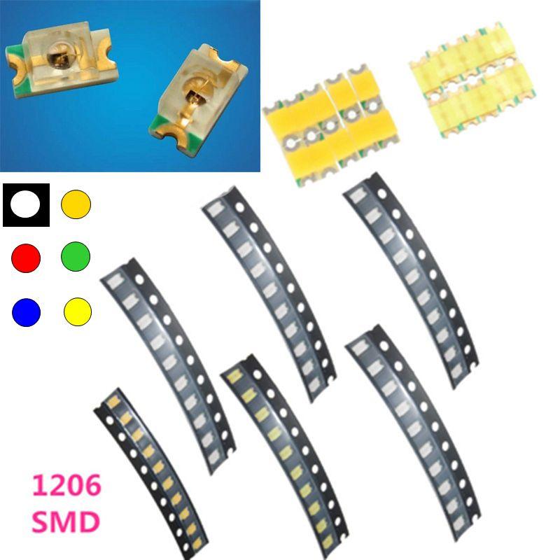 10x0402 0603 0805 1206 1210 3528 3014 2835 5630 SMD SMT LED light Emitting Diode