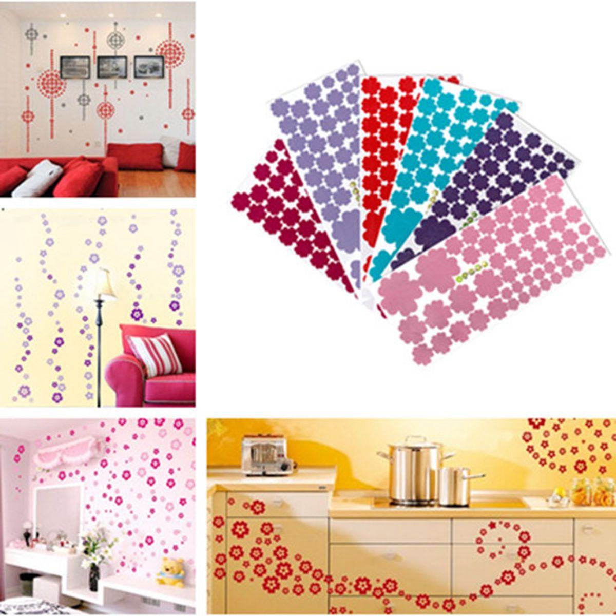 Sticker mural fleur lettre amovible d coration autocollant - Stickers deco salon ...