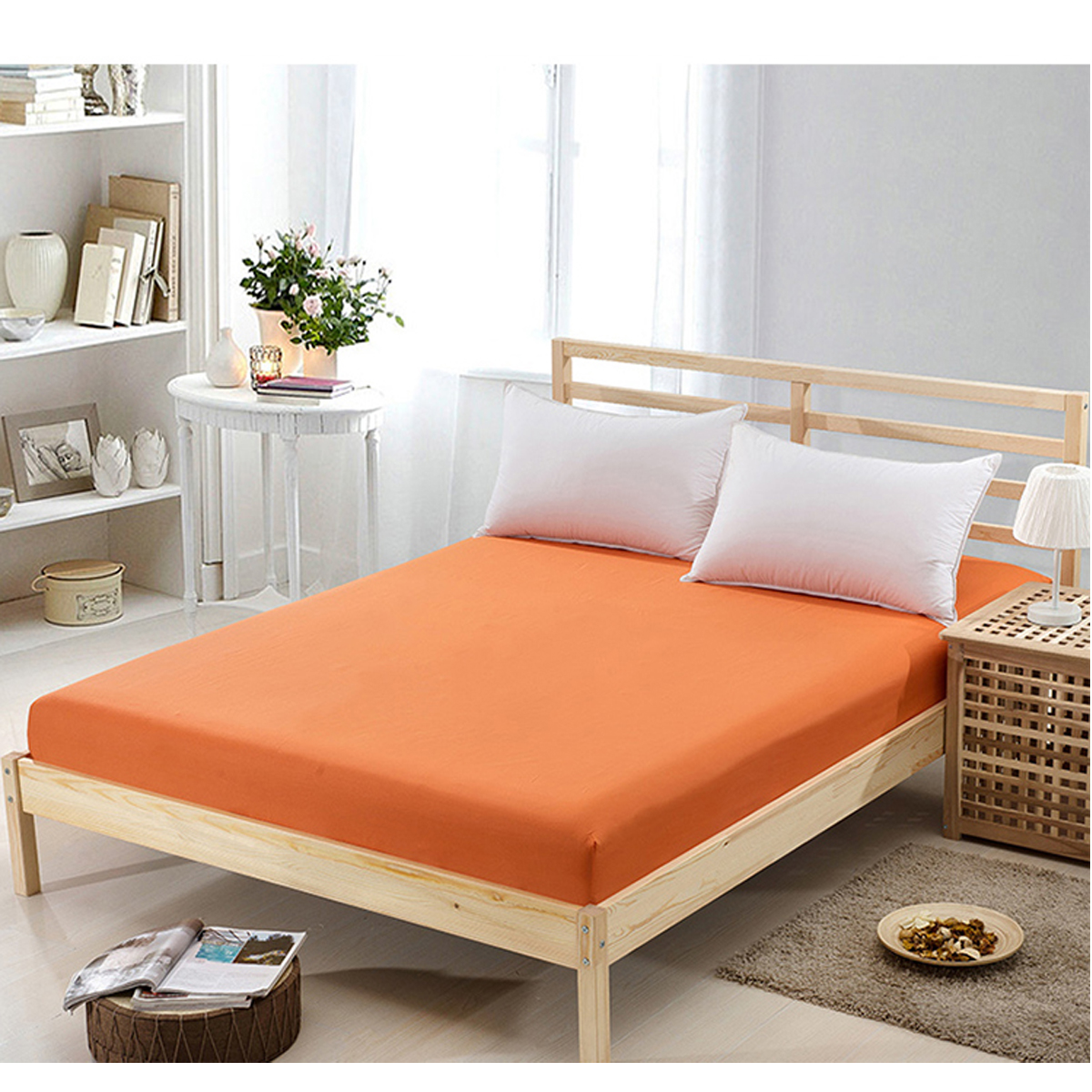 Disposable Bed Sheets Canada: Solid Color Flat Fitted Sheet Bed Coverlet Set Comfort