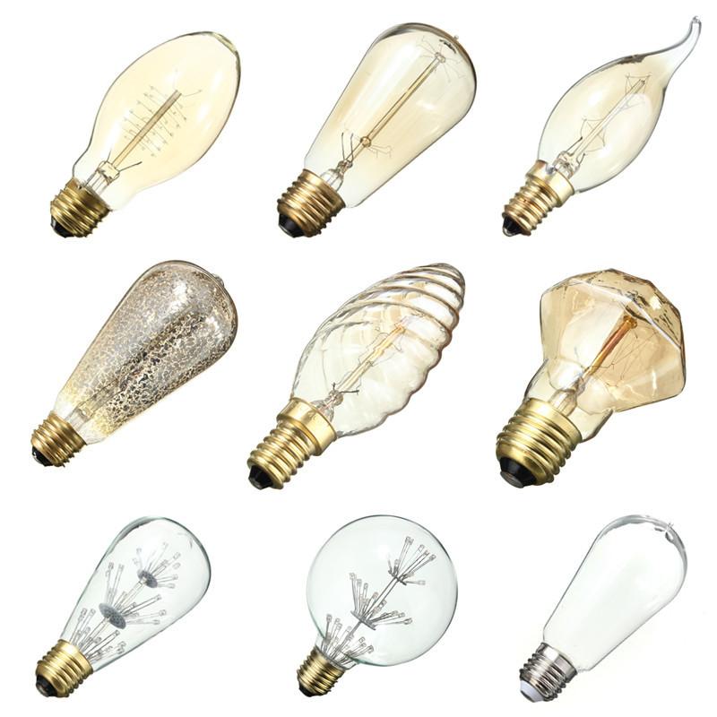 E27/E14 Vintage Retro Filament Edison LED Tungsten Light ...