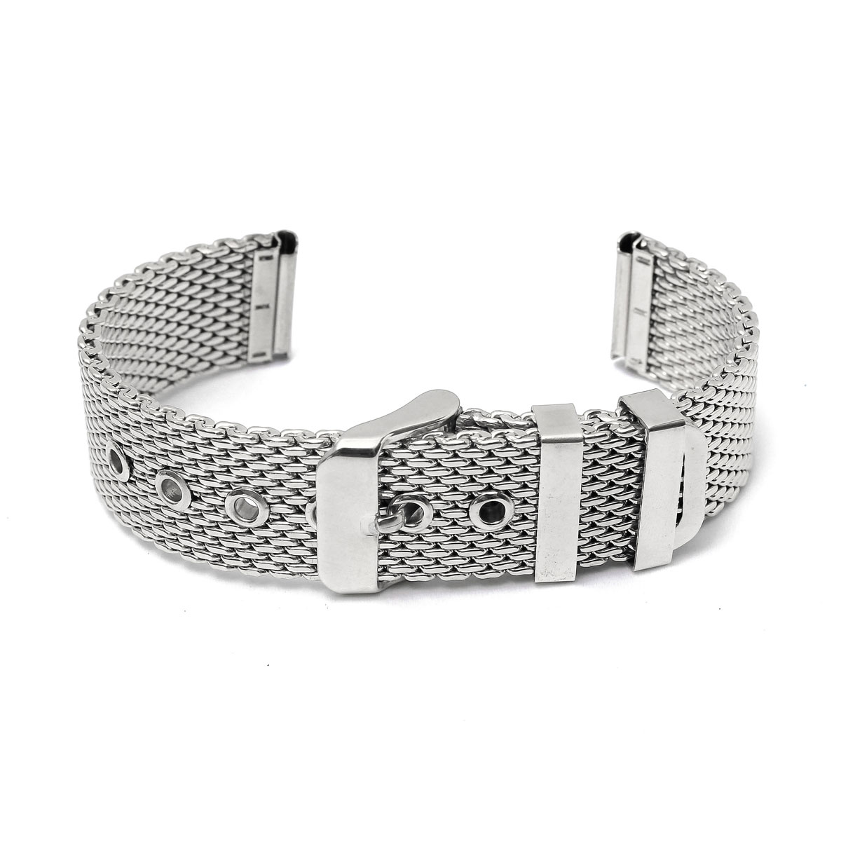 Affordable Men Silver Watch Strap Band Shark Mesh Stainless Steel