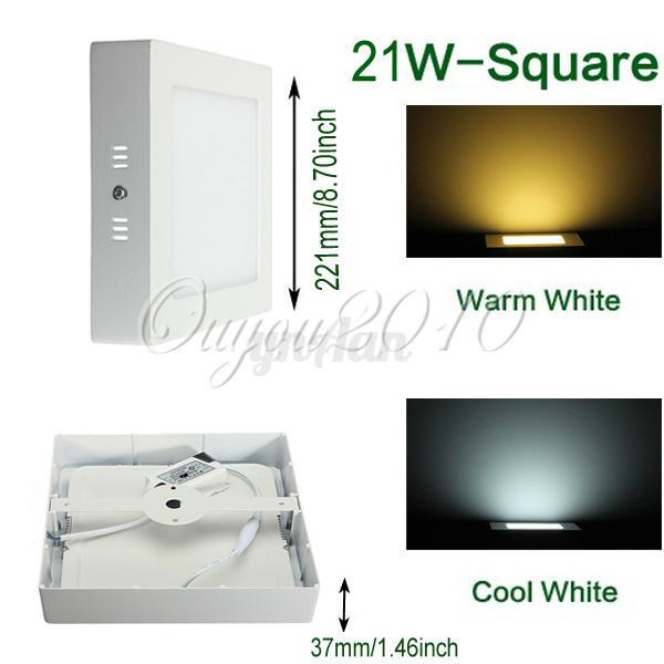 Dimmable Recessed Wall Lights : 9/15/21W LED Dimmable Panel Wall Ceiling Down Light Recessed Surface Mount Lamp eBay