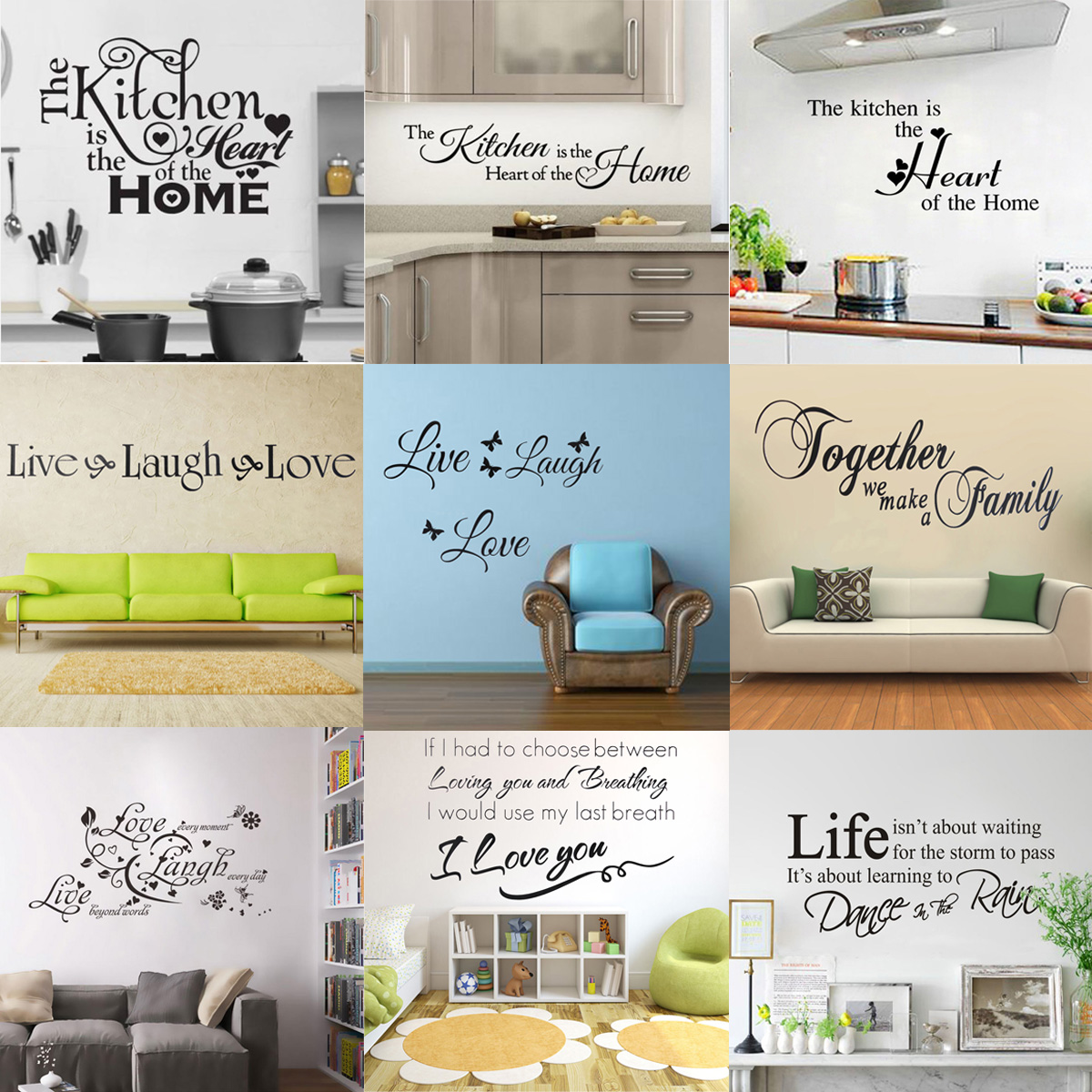 Kitchen wall decals words 6795653 - metabo01.info