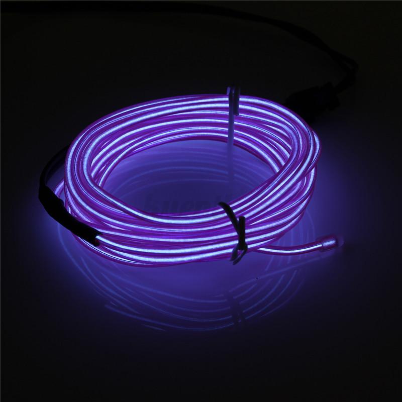 EL Kabel Neon LED USB Lichtschnur Licht Effekt Leuchtschnur Draht ...