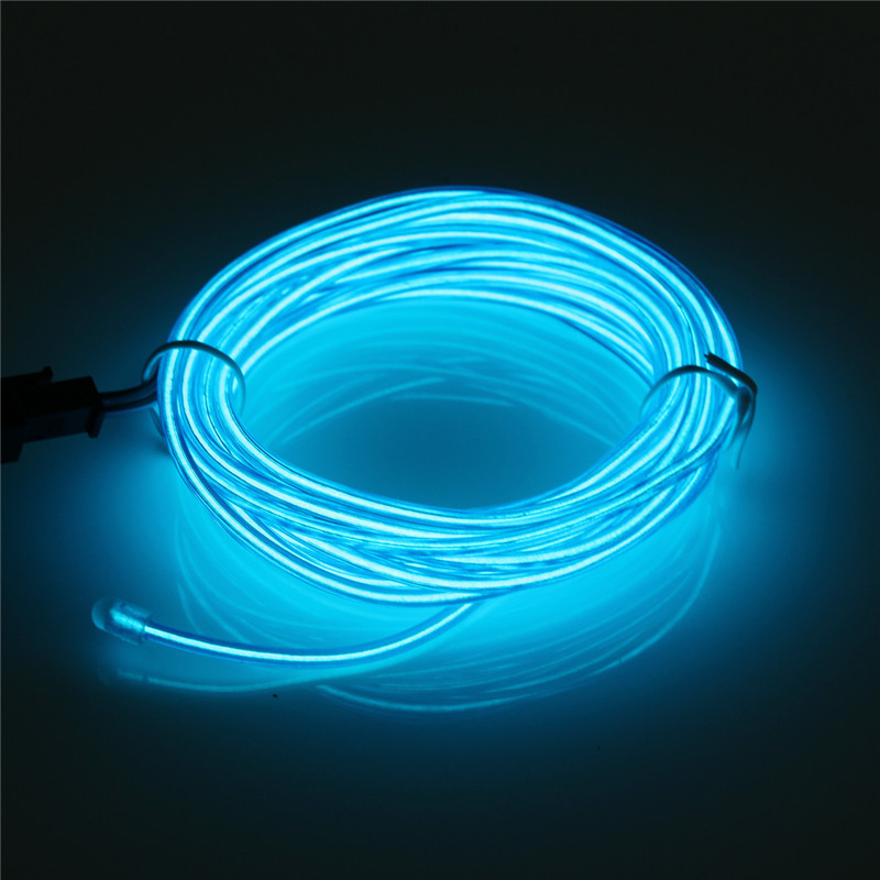 usb led el wire tube neon flexible strip glow car xmas party bar decor light new ebay. Black Bedroom Furniture Sets. Home Design Ideas