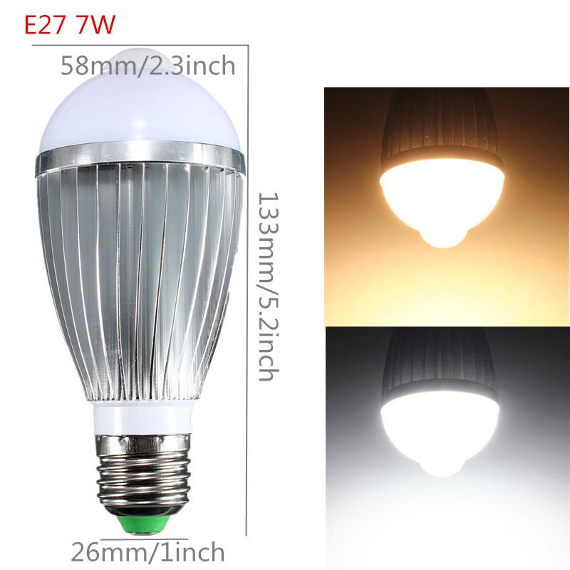 B22 E27 5/7/9W PIR Infrarouge Motion Sensor Détection Capteur LED Ampoule Globe
