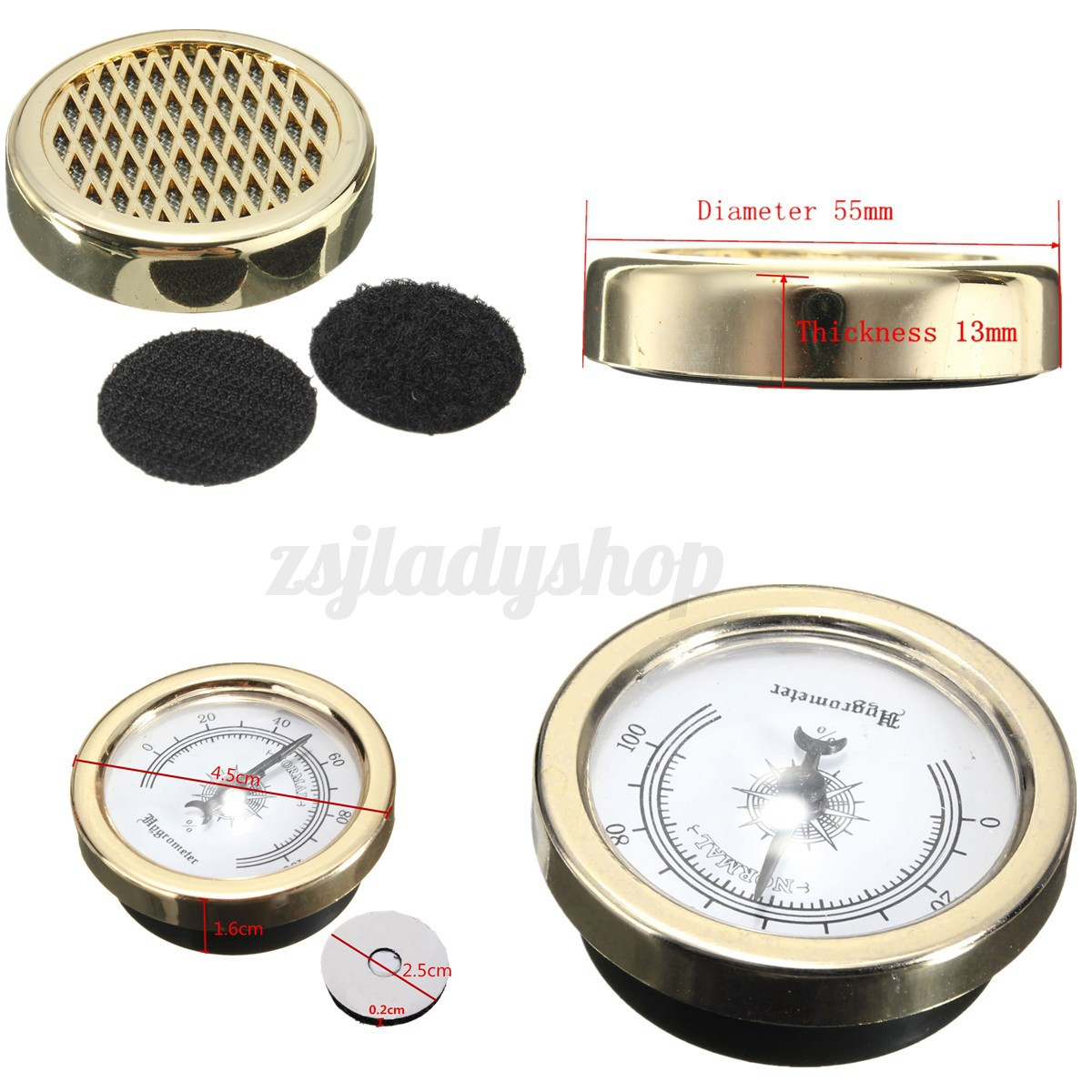 Smoking Tobacco Hygrometer  Round Humidifier for Cigar Humidor eBay #A1362A