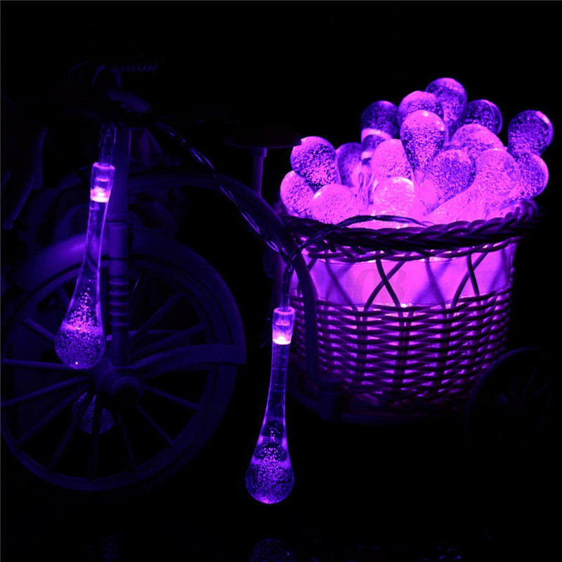30LED Battery Type/Solar Party Wedding Water Drop Christmas Fairy String Lights eBay