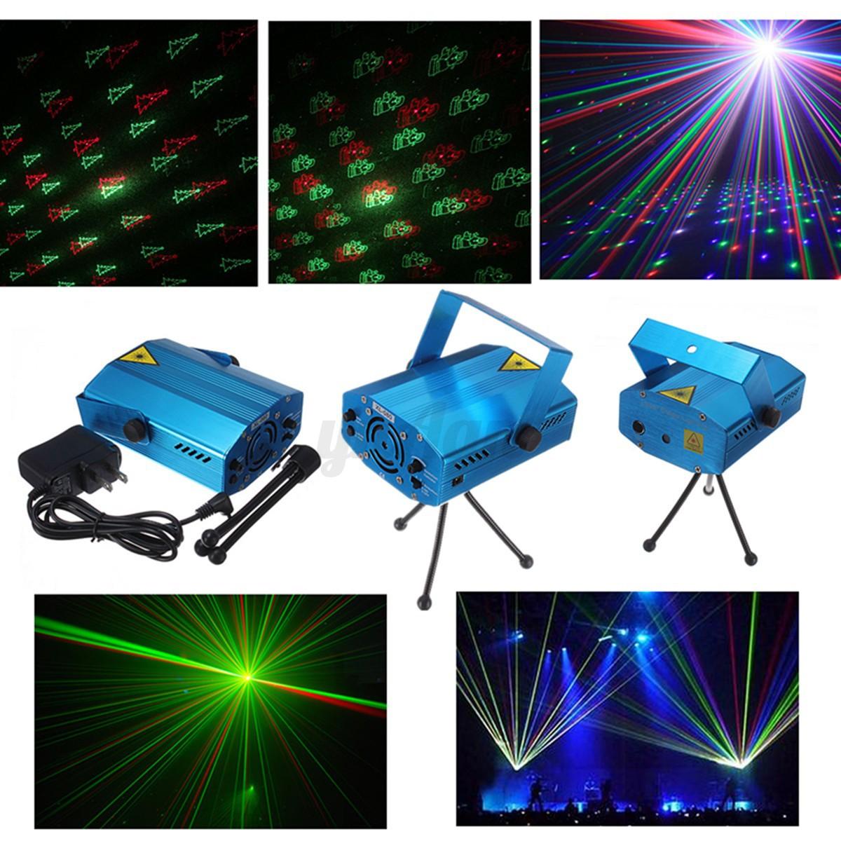 2x 6en1 rouge vert led laser eclairage projecteur stage - Projecteur lumiere noel ...