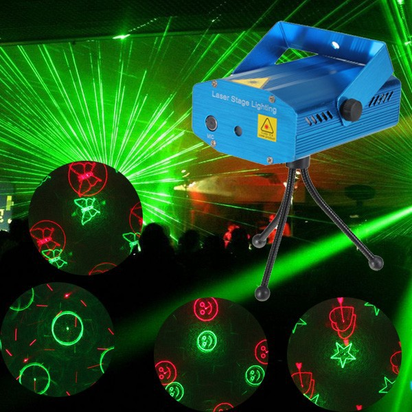 2x 6en1 rouge vert led laser eclairage projecteur stage for Eclairage de noel laser