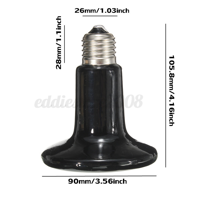 infrared ceramic emitter heat lamp for reptile pet brooder light bulb. Black Bedroom Furniture Sets. Home Design Ideas