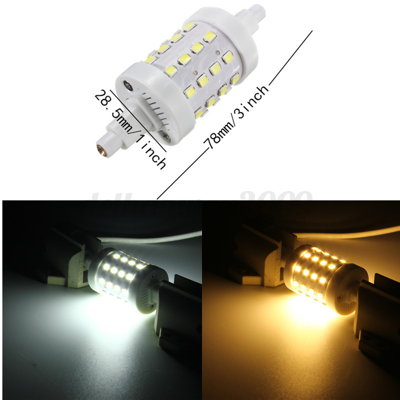 R7s 78mm 118mm 2835 smd led flood corn light replacement halogen lamp tube bulb ebay - Ampoule led r7s 78mm ...