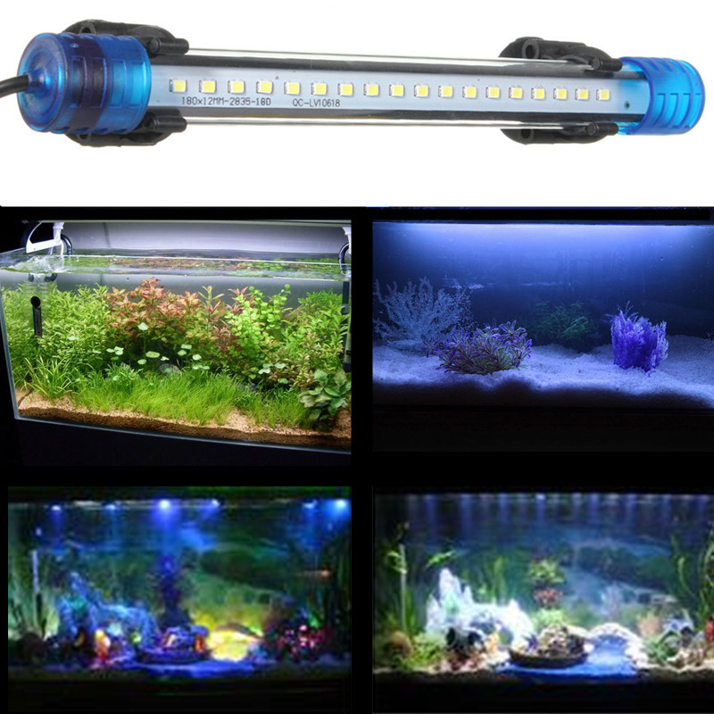 20 50cm 18 27 36 45 led submersible underwater aquarium for Fish tank led light bar