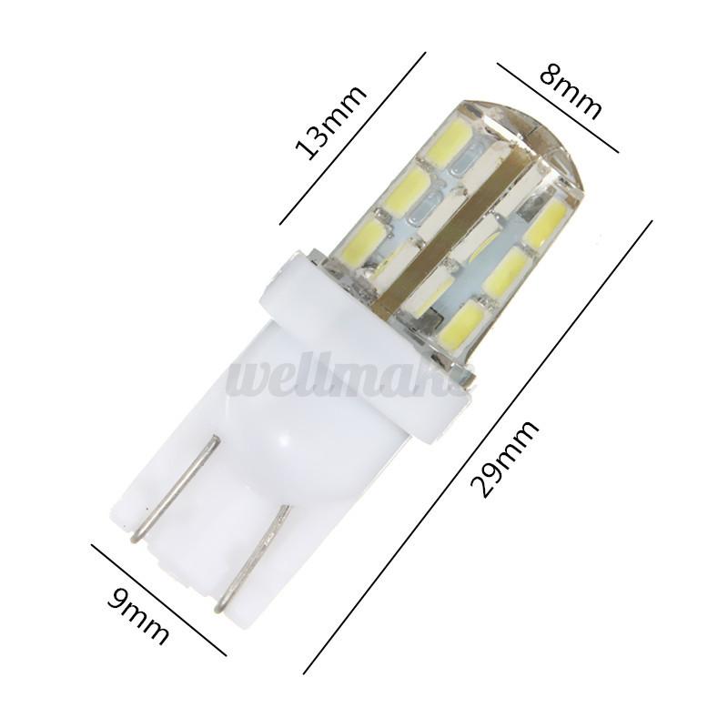T10 3014 LED 24 SMD 1.7W 501 W5W Silicone Car Interior Side Light Width Bulb UK