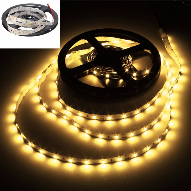5M 2835 SMD 300/600 LED Strip Light Bulb Lamp Waterproof Home Decoration DC 12V