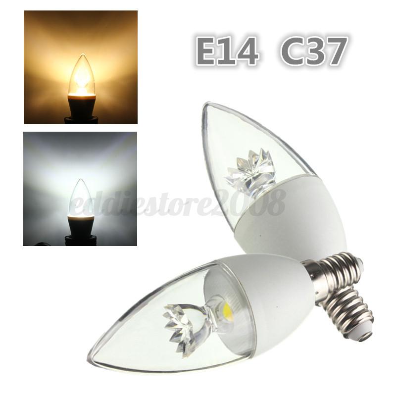 E14 E27 5w Cob Crystal Chandelier Led Globe Candle Light