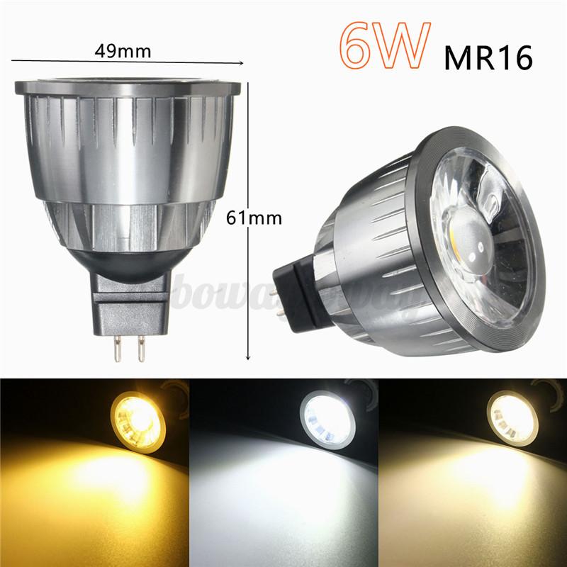 led 6w 9w 12w mr16 gu10 cob led dimmbar lampe birne leuchtemittel spot strahler. Black Bedroom Furniture Sets. Home Design Ideas