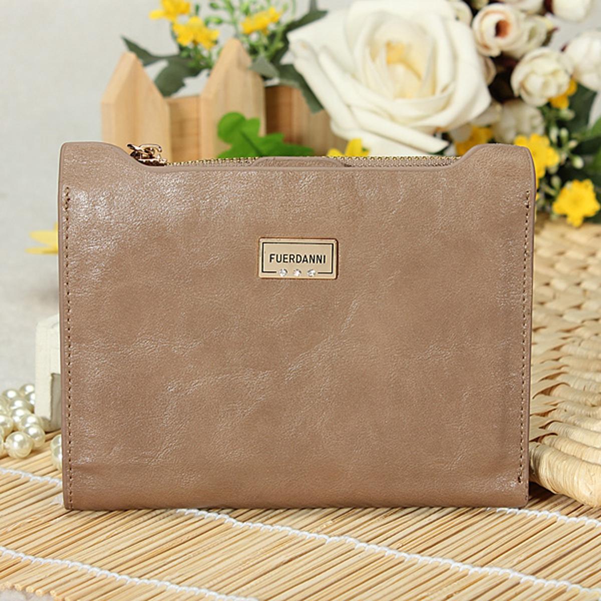 Women Soft Leather Clutch Wallet Bifold Card Holder Zip Purse Handbag Checkbook