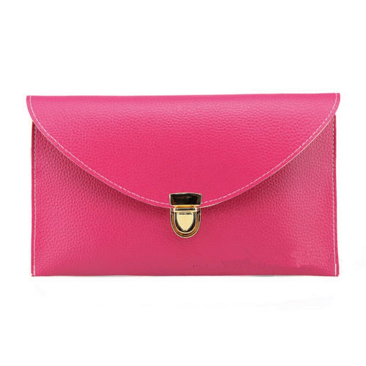 Women Lady Leather Clutch Chain Shoulder Handbag Tote Envelope Purse Handbag HOT
