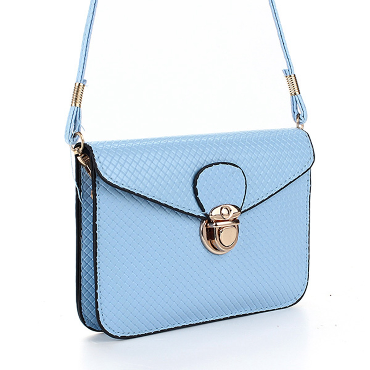 Women Handbag Shoulder Tote Purse Leather Women Messenger Lattice Phone Bag Girl