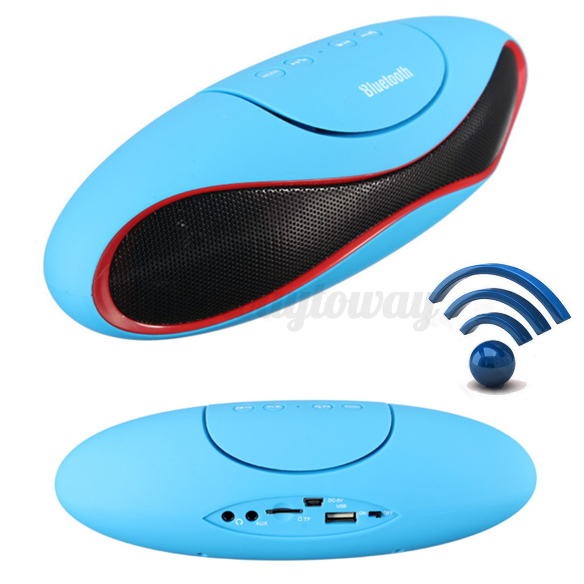 wireless bluetooth lautsprecher fm radio speaker sound box f r handy pc laptop ebay. Black Bedroom Furniture Sets. Home Design Ideas