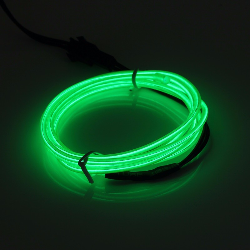 LED Light Glow El Wire String Strip Rope Car Xmas Party + 3V/12V/USB Controller