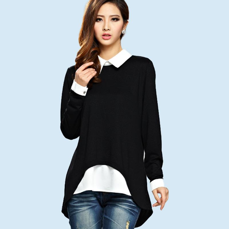 Fashion female elegant white blouses Chiffon peter pan collar casual shirt Ladies tops school blouse Women Plus Size Store-wide Discount US $ - / Piece.