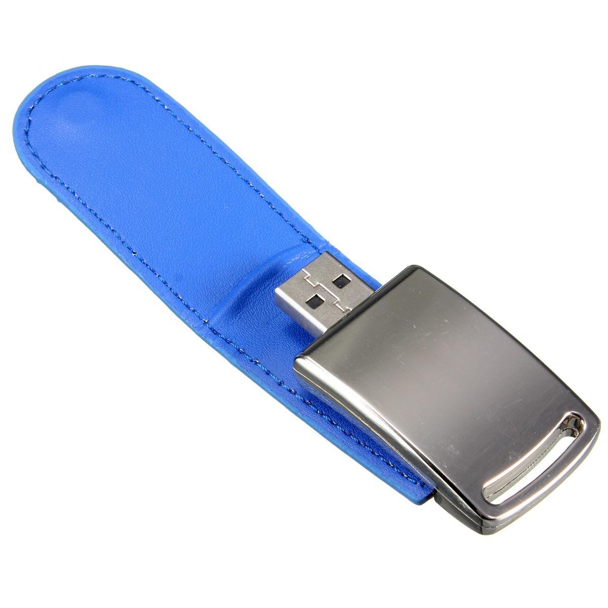 8gb portable mini leather metal silver usb2 0 flash stick. Black Bedroom Furniture Sets. Home Design Ideas
